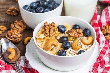 oatmeal: Oatmeal breakfast Stock Photo