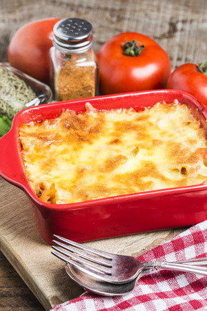 baked Cheese pasta with fresh tomato