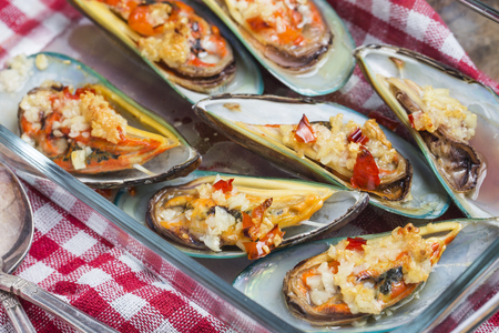 mussel: Barbecue mussel