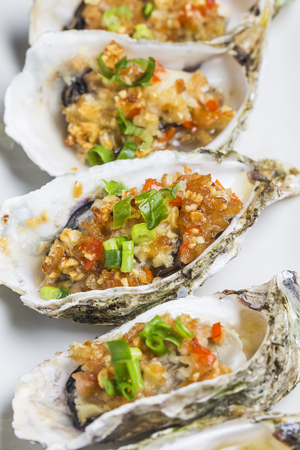 baked: Baked oysters