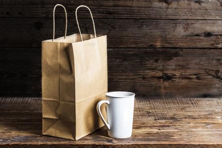 reciclable: Bolsas de papel reciclable, Bolsas de papel reciclable, Foto de archivo