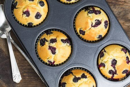 blueberry muffin: Blueberry muffin Stock Photo