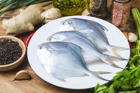 Fresh butterfish Banque d'images