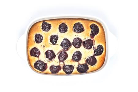 berry: Cherry Clafoutis Stock Photo