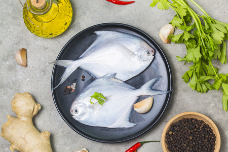 Fresh butterfish Stock Photo