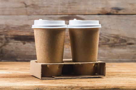 Disposable cup, paper cup Coffee cup Stock Photo
