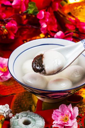 중국어 등불 축제 음식