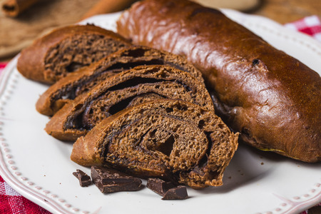 Delicious homemade chocolate loaf of bread Stock Photo