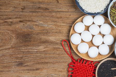 Kleverige rijstballen voor lantaarnfestival in China