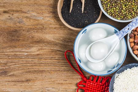 Glutinous Rice Balls for Lantern Festival in China Stockfoto