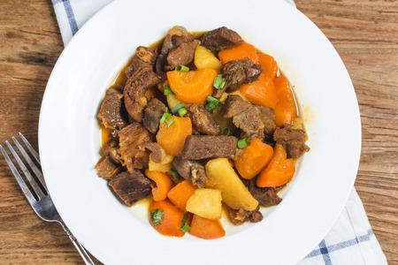 Braised beef brisket and carrot potatoes Stok Fotoğraf
