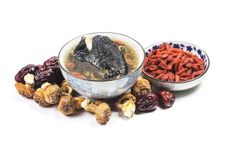 Herbal black bone chicken soup