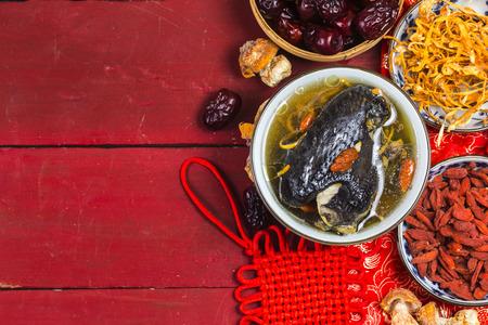 Herbal black-bone chicken soup