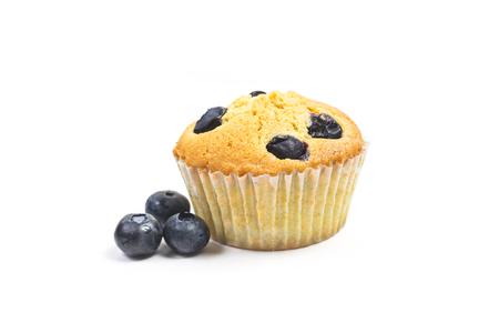 Blueberry muffins on white background Reklamní fotografie