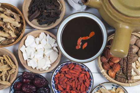 traditional Chinese medicine,Chinese medicine books Stock Photo
