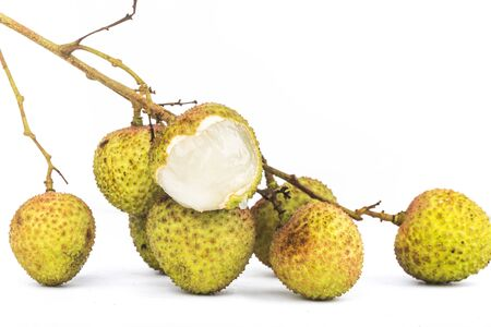 Fresh lychees isolated on white background Reklamní fotografie