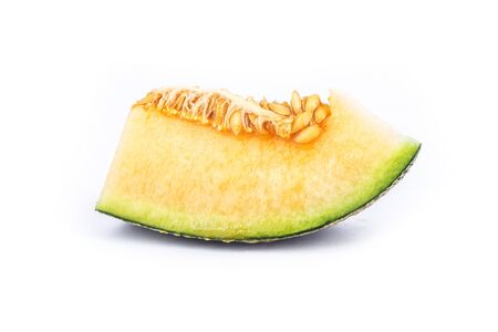 Slice of melon isolated on white background Reklamní fotografie