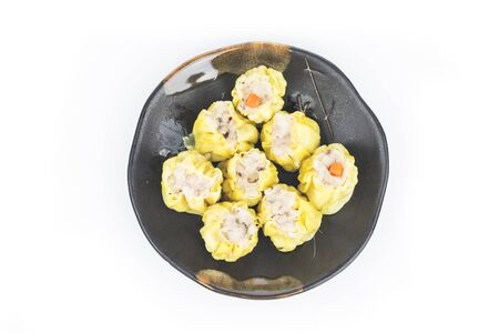 chinese steamed shrimp dimsum in White background