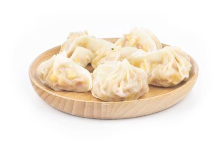 Chinese corn dumplings on white background