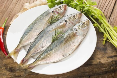raw mackerel with spices