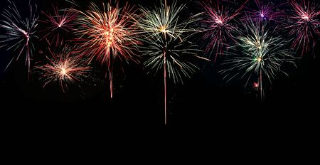 Abstract colored firework background with free space for text Stock fotó - 130109020
