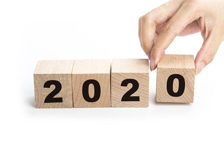New Year concept from 2019 to 2020