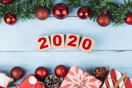 Empty copy space for inscription. Idea of happy new year 2020 holiday.