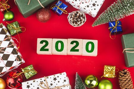 Empty copy space for inscription. Idea of happy new year 2020 holiday. merry christm