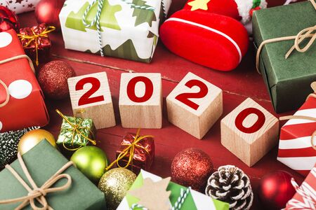 Empty copy space for inscription. Idea of happy new year 2020 holiday. merry christm 写真素材 - 133271227
