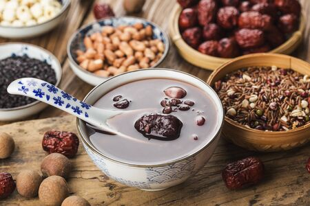 Chinese northern cuisine, Laba porridge, eight treasure porridge 写真素材 - 133286688
