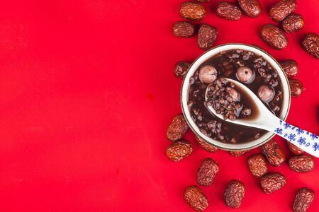 Chinese northern cuisine, Laba porridge, eight treasure porridge Stockfoto