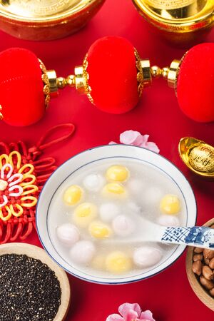 Chinese Lantern Festival food, glutinous rice balls 写真素材