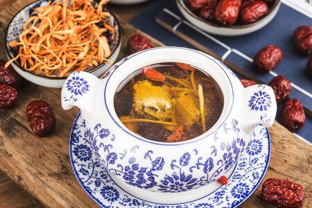 Cordyceps flower pork bone soup