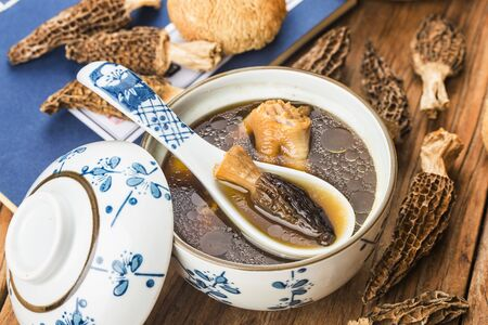 Stewed chicken with Morel,Chinese cuisine