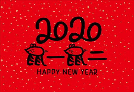 2020 Chinese New Year Rat Year Illustration, Chinese translation: Rat Year is the best Archivio Fotografico - 137842350