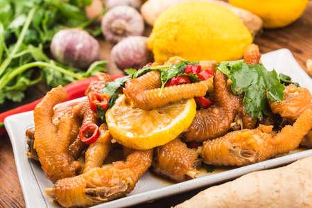 Home cooking: fresh lemon chicken wings,