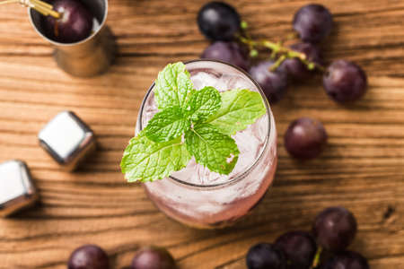 cold drink: Fruit cocktail with grape