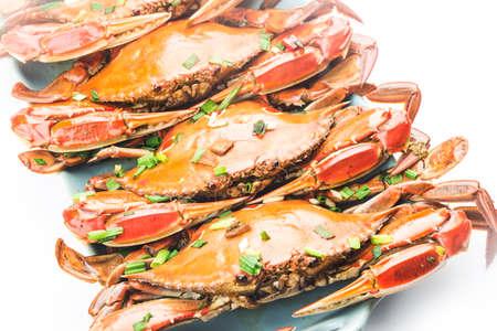 A plate of fresh Redspot swimming crab