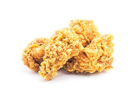 Fried chicken isolated on white background. Standard-Bild