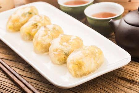 Steamed Chinese Crystal Meat Dumplings