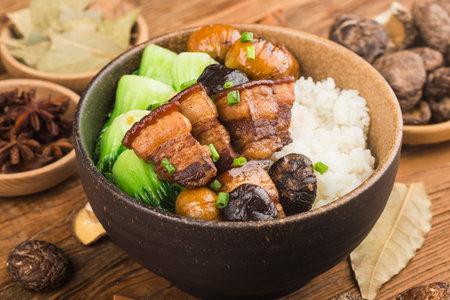 Chinese food: Braised Pork Rice