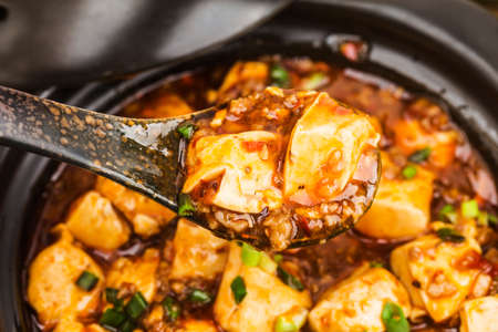 Chinese cuisine: tofu and mince with hot spicy sauce 写真素材