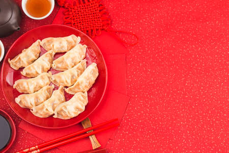 Chinese Food: Dumplings for Traditional Chinese Holidays 写真素材 - 161934199