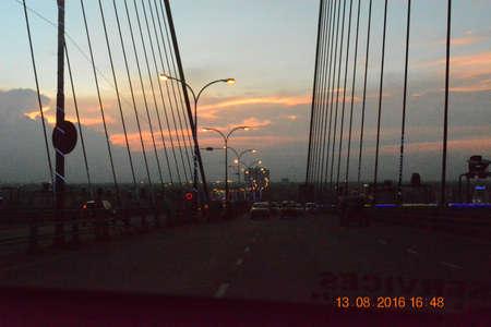 Howrah Bridge Evening Stock Photo