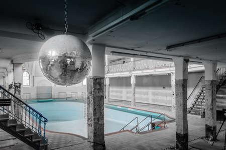 abandoned: abandoned old pool Stock Photo