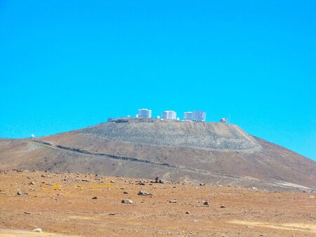 View of the ESA VLT Observatory, in the desert of Chile