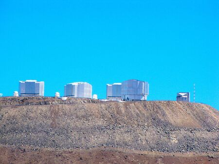 Detailed view of the ESA VLT Observatory, in the desert of Chile