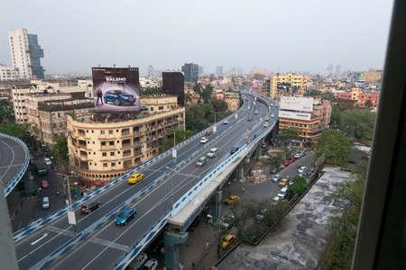 Flyover in Kolkata, India.