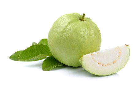 guava fruit: Fresh guava isolated on a  white background