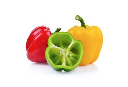 pimiento: Bell pepper  isolated on white background